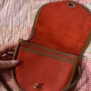 Vintage red mini coach bag